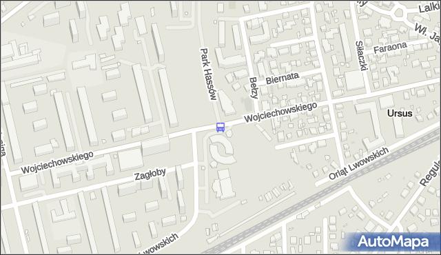 Przystanek Bełzy 01. ZTM Warszawa - Warszawa (id 420501) na mapie Targeo