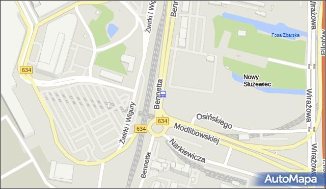 Przystanek Bennetta 02. ZTM Warszawa - Warszawa (id 420302) na mapie Targeo