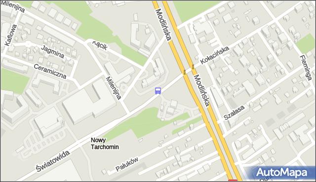 Przystanek Białołęka-Ratusz 03. ZTM Warszawa - Warszawa (id 102003) na mapie Targeo