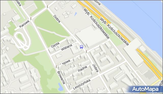 Przystanek Biblioteka Uniwersytecka 01. ZTM Warszawa - Warszawa (id 706101) na mapie Targeo