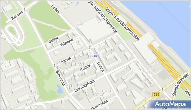 Przystanek Biblioteka Uniwersytecka 02. ZTM Warszawa - Warszawa (id 706102) na mapie Targeo