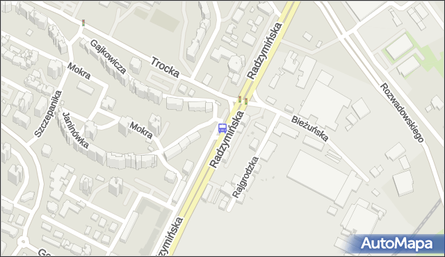 Przystanek Bieżuńska 01. ZTM Warszawa - Warszawa (id 105601) na mapie Targeo