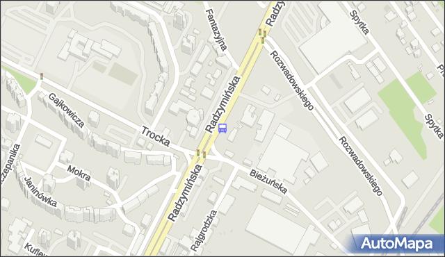 Przystanek Bieżuńska 02. ZTM Warszawa - Warszawa (id 105602) na mapie Targeo