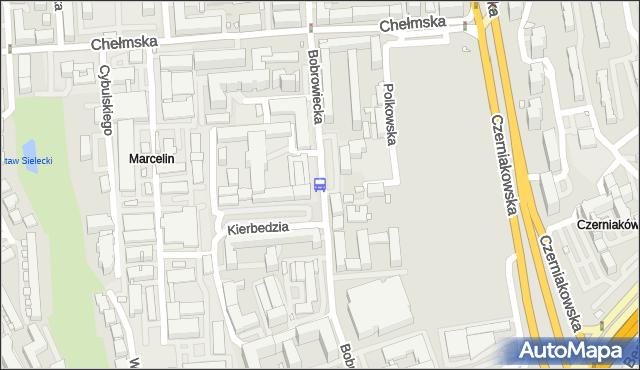 Przystanek Bobrowiecka 01. ZTM Warszawa - Warszawa (id 308701) na mapie Targeo