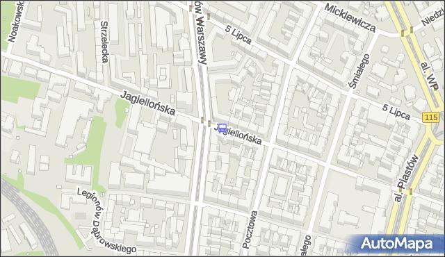 Przystanek Bohaterów Warszawy 21. ZDiTM Szczecin - Szczecin (id 11921) na mapie Targeo