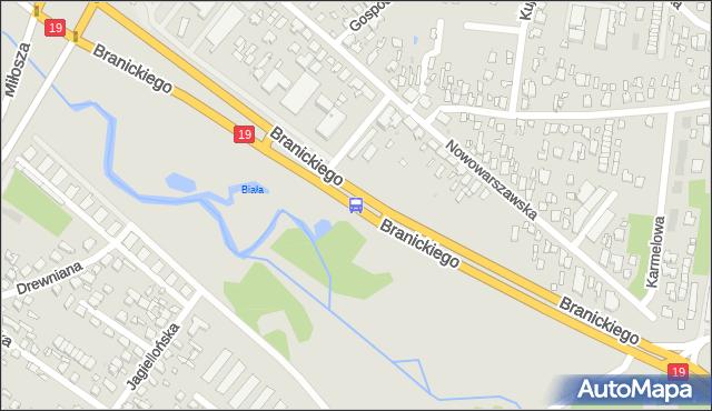 Przystanek Branickiego/Geodetów. BKM - Białystok (id 64) na mapie Targeo