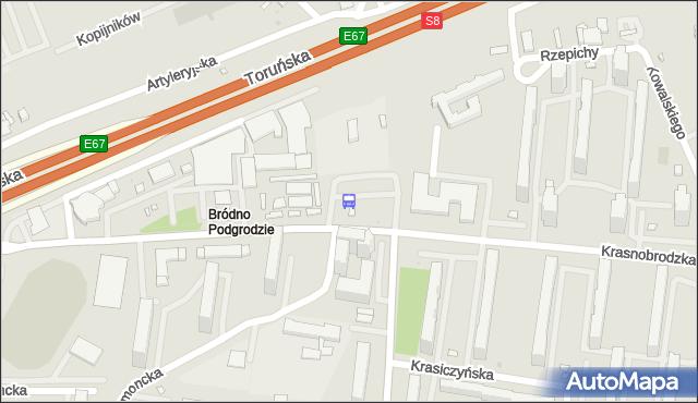 Przystanek Bródno-Podgrodzie 06. ZTM Warszawa - Warszawa (id 115206) na mapie Targeo