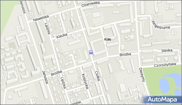 Przystanek Brożka 02. ZTM Warszawa - Warszawa (id 510102) na mapie Targeo