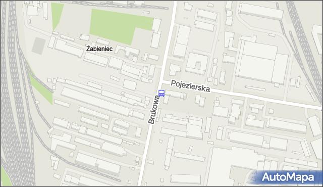 Przystanek Brukowa - Pojezierska. MPKLodz - Łódź (id 55) na mapie Targeo