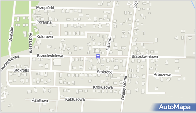 Przystanek Brzoskwiniowa/Daliowa. BKM - Białystok (id 708) na mapie Targeo