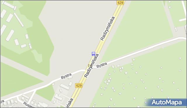 Przystanek Bystra 01. ZTM Warszawa - Warszawa (id 125801) na mapie Targeo
