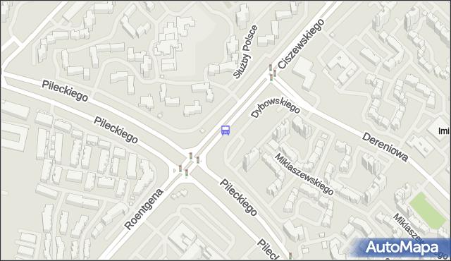 Przystanek Centrum Onkologii 01. ZTM Warszawa - Warszawa (id 313401) na mapie Targeo
