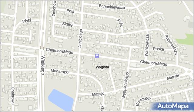 Przystanek Chełmońskiego/Janickiego. BKM - Białystok (id 86) na mapie Targeo