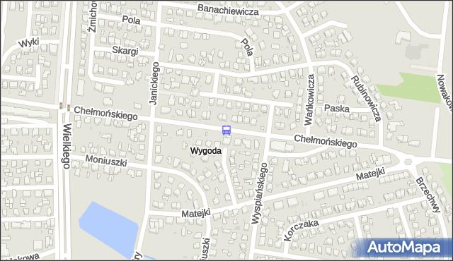 Przystanek Chełmońskiego/Szymanowskiego. BKM - Białystok (id 88) na mapie Targeo