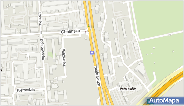 Przystanek Chełmska 01. ZTM Warszawa - Warszawa (id 305901) na mapie Targeo
