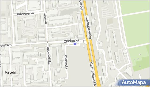 Przystanek Chełmska 03. ZTM Warszawa - Warszawa (id 305903) na mapie Targeo