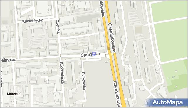 Przystanek Chełmska 04. ZTM Warszawa - Warszawa (id 305904) na mapie Targeo