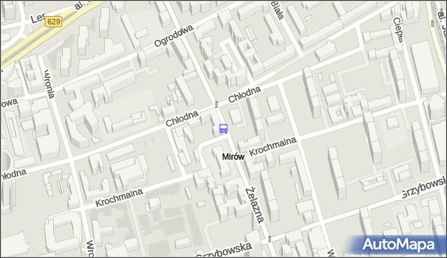 Przystanek Chłodna 01. ZTM Warszawa - Warszawa (id 508901) na mapie Targeo