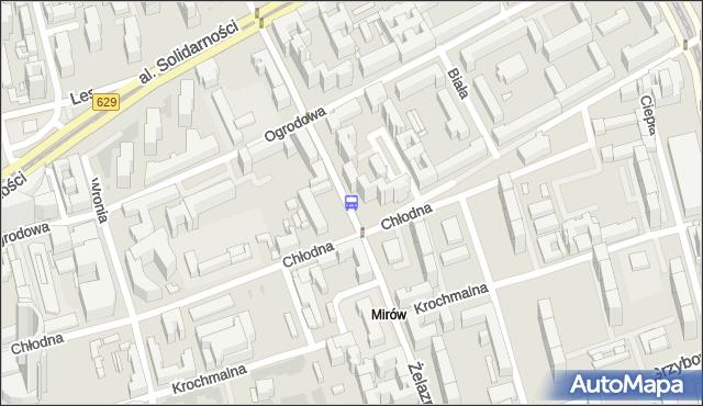 Przystanek Chłodna 02. ZTM Warszawa - Warszawa (id 508902) na mapie Targeo