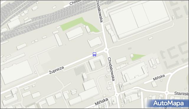 Przystanek Chodakowska 01. ZTM Warszawa - Warszawa (id 211801) na mapie Targeo