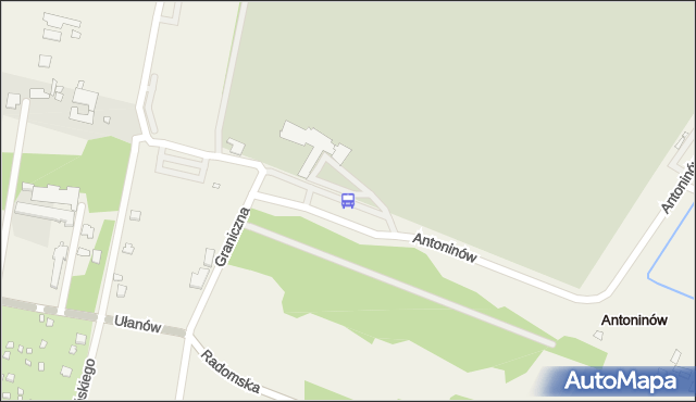 Przystanek Cm.Południowy-Brama Płd. 01. ZTM Warszawa - Warszawa (id 332701) na mapie Targeo