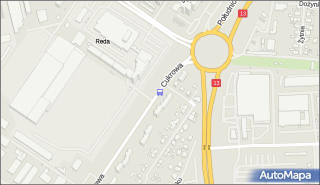 Przystanek Cukrowa Uniwersytet 12. ZDiTM Szczecin - Szczecin (id 23812) na mapie Targeo