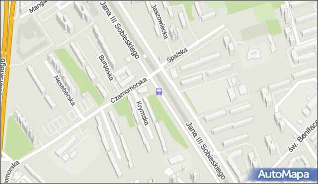 Przystanek Czarnomorska 01. ZTM Warszawa - Warszawa (id 303201) na mapie Targeo