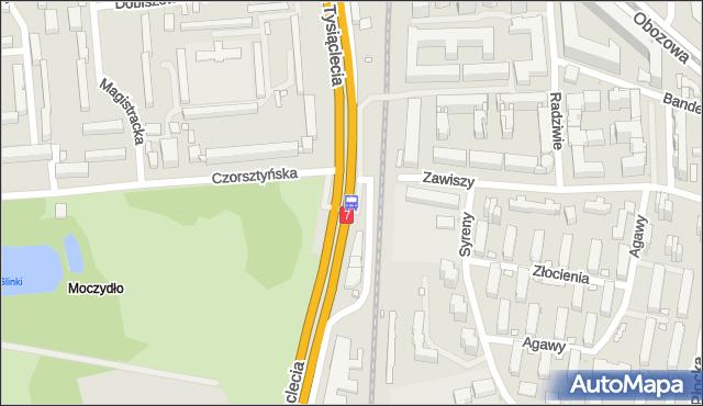Przystanek Czorsztyńska 02. ZTM Warszawa - Warszawa (id 511602) na mapie Targeo