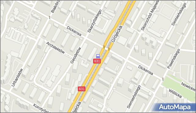 Przystanek Dickensa 02. ZTM Warszawa - Warszawa (id 400602) na mapie Targeo