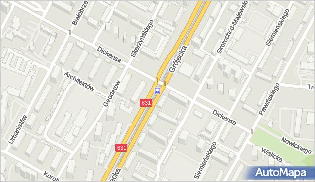 Przystanek Dickensa 03. ZTM Warszawa - Warszawa (id 400603) na mapie Targeo