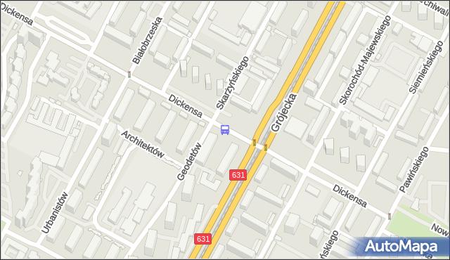 Przystanek Dickensa 06. ZTM Warszawa - Warszawa (id 400606) na mapie Targeo