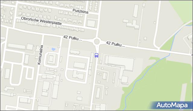 Przystanek Dolistowska/42. Pułku Piechoty. BKM - Białystok (id 96) na mapie Targeo
