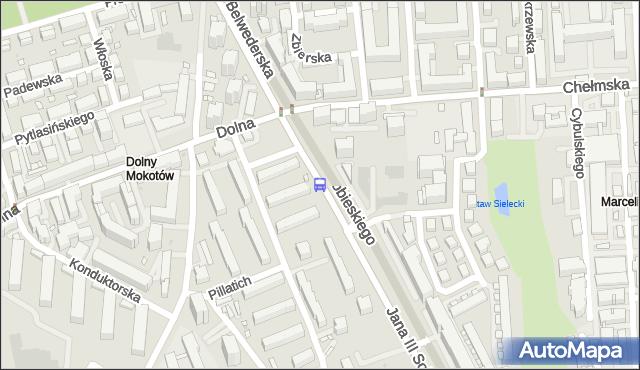 Przystanek Dolna 01. ZTM Warszawa - Warszawa (id 302701) na mapie Targeo