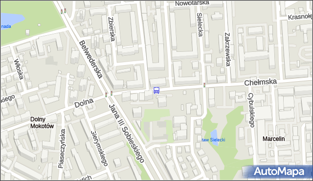 Przystanek Dolna 03. ZTM Warszawa - Warszawa (id 302703) na mapie Targeo