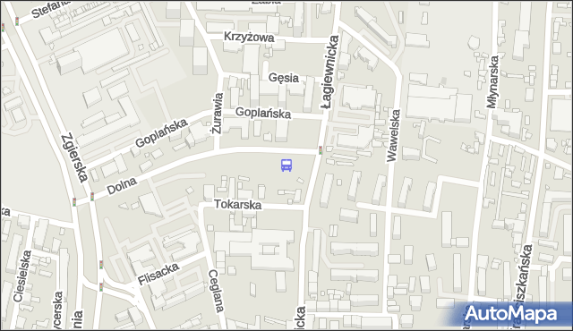 Przystanek Dolna - Łagiewnicka. MPKLodz - Łódź (id 136) na mapie Targeo