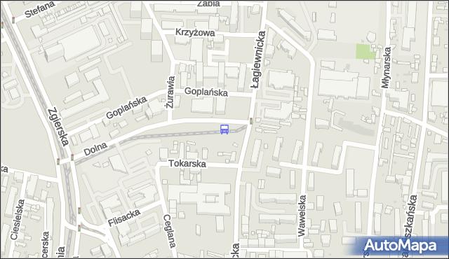 Przystanek Dolna - Łagiewnicka. MPKLodz - Łódź (id 137) na mapie Targeo