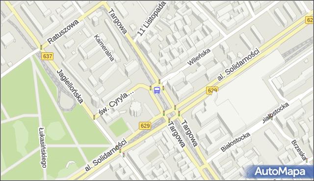 Przystanek Dw.Wileński 08. ZTM Warszawa - Warszawa (id 100308) na mapie Targeo