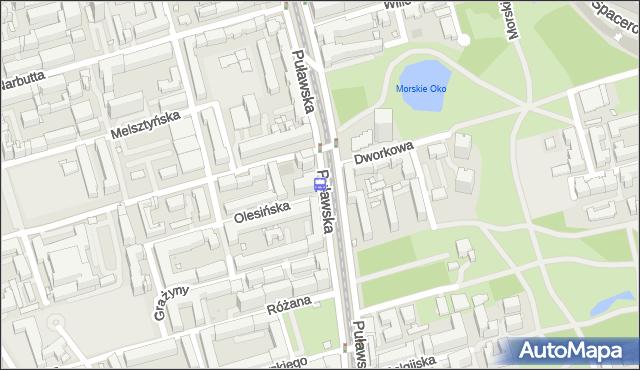 Przystanek Dworkowa 01. ZTM Warszawa - Warszawa (id 300301) na mapie Targeo