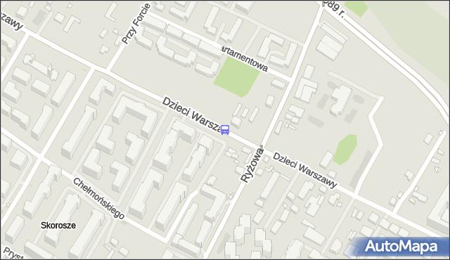 Przystanek Dzieci Warszawy 04. ZTM Warszawa - Warszawa (id 409404) na mapie Targeo