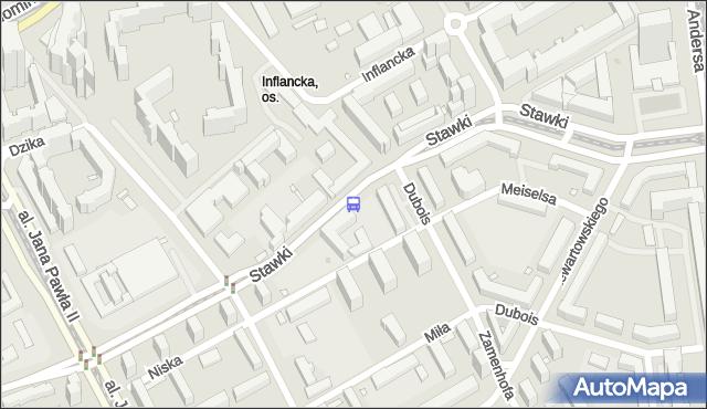Przystanek Dzika 01. ZTM Warszawa - Warszawa (id 702001) na mapie Targeo
