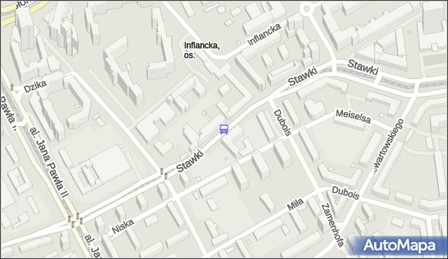 Przystanek Dzika 02. ZTM Warszawa - Warszawa (id 702002) na mapie Targeo
