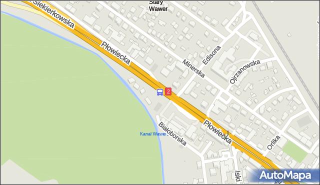 Przystanek Edisona 02. ZTM Warszawa - Warszawa (id 201702) na mapie Targeo