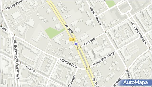 Przystanek Felczaka 11. ZDiTM Szczecin - Szczecin (id 12311) na mapie Targeo