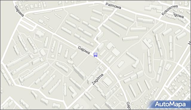 Przystanek GAJOWA/ZAGÓRNA. BKM - Białystok (id 126) na mapie Targeo