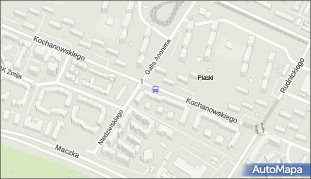 Przystanek Galla Anonima 01. ZTM Warszawa - Warszawa (id 613201) na mapie Targeo
