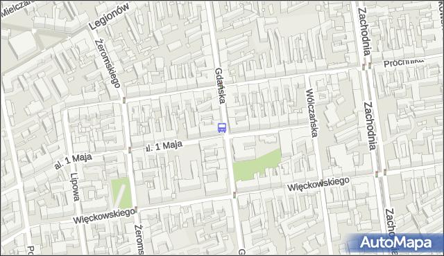 Przystanek Gdańska - 1 Maja. MPKLodz - Łódź (id 197) na mapie Targeo
