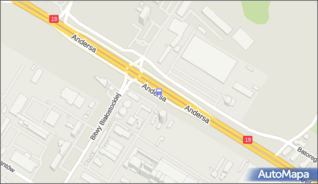 Przystanek GEN. ANDERSA/EC II. BKM - Białystok (id 474) na mapie Targeo
