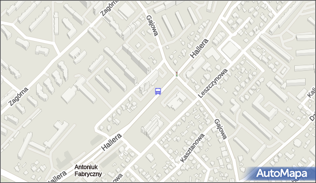 Przystanek GEN.HALLERA/GAJOWA. BKM - Białystok (id 48) na mapie Targeo