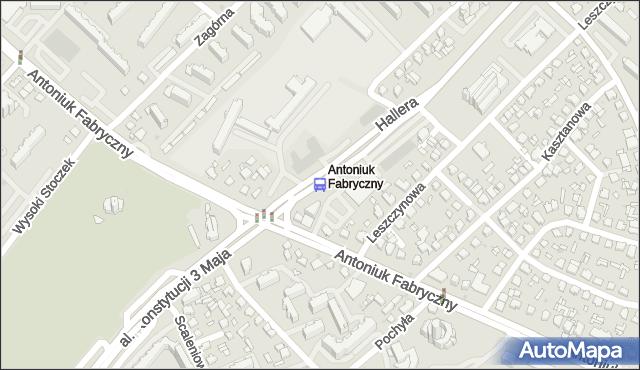 Przystanek GEN.HALLERA/KOŚCIÓŁ. BKM - Białystok (id 41) na mapie Targeo