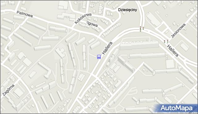Przystanek GEN.HALLERA/PALMOWA. BKM - Białystok (id 47) na mapie Targeo